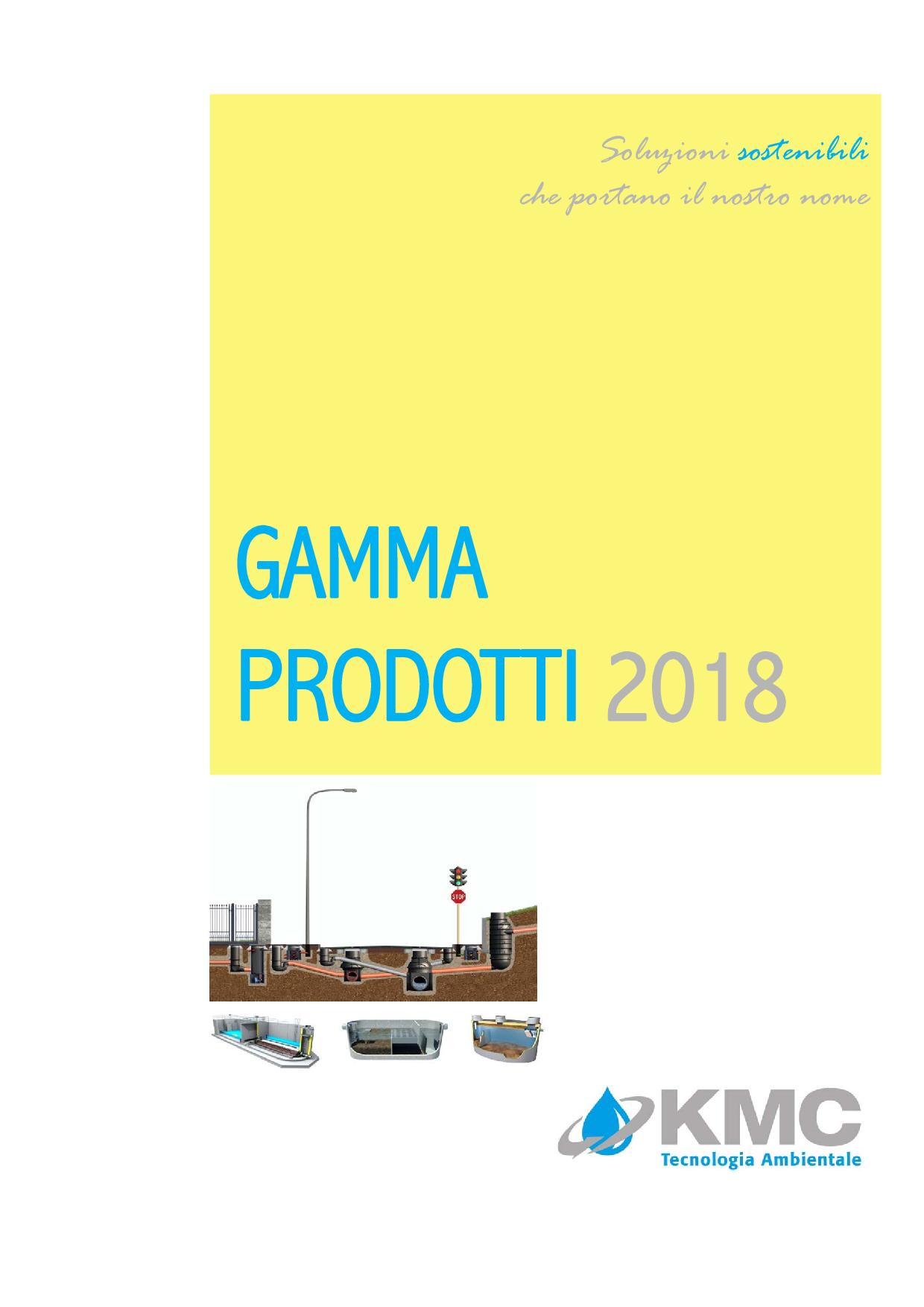 GAMMA PRODOTTI KMC 2018
